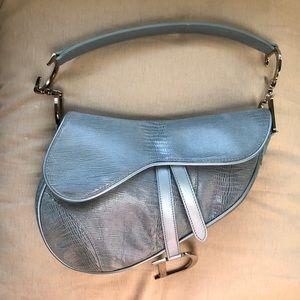 Christian Dior Embossed Saddle Bag